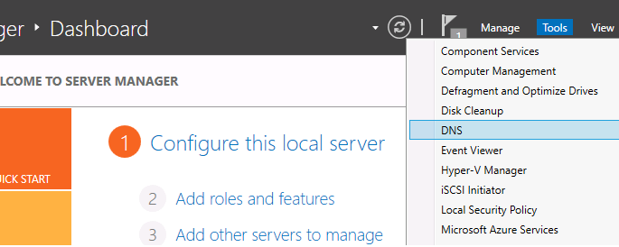آموزش نصب و کانفیگ DNS در Windows Server 2012