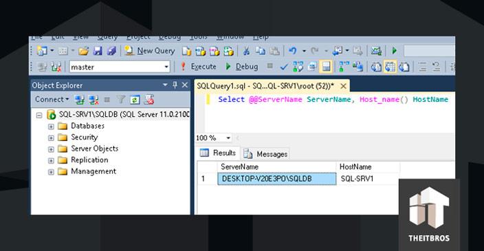 تغییر نام کامپیوتر با Instance SQL Server