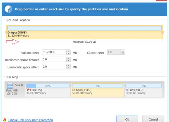 نحوه تغییر اندازه پارتیشن در ویندوز سرور 2012