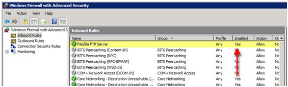 تنظیم فایروال سرور ویندوز برای فایل زیلا