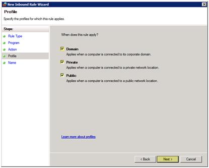 پیکر بندی فایروال برای filezilla server