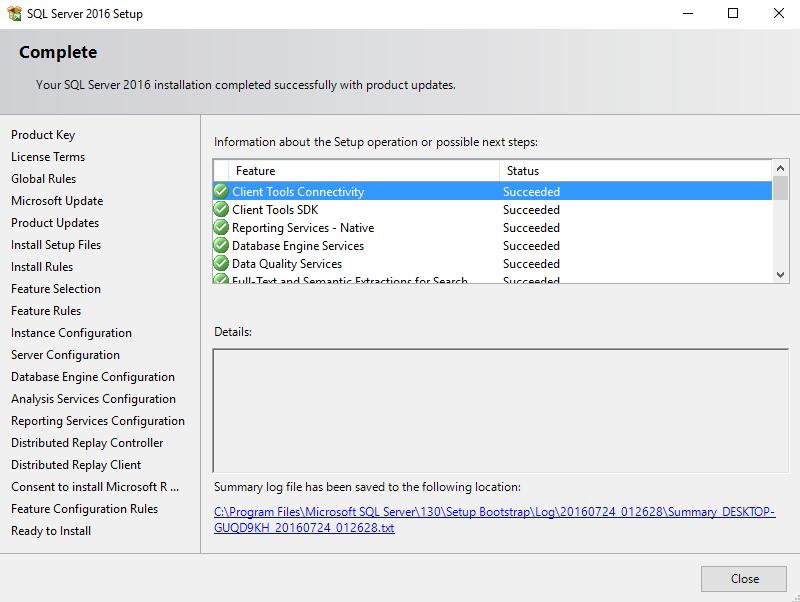 آموزش نصب SQL Server 2016