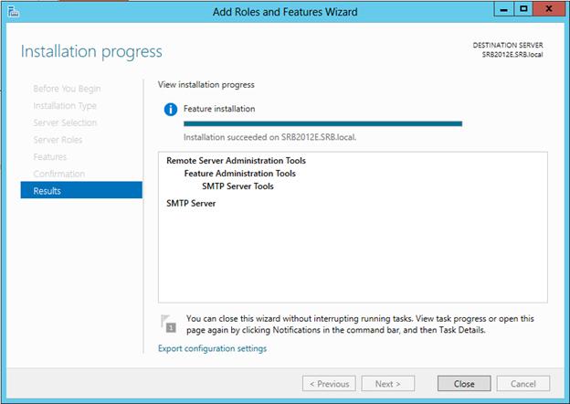 نصب SMTP در ویندوز سرور
