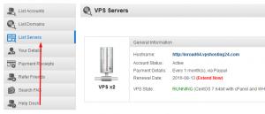 بدست آوردن جزئیات دسترسی به VPS