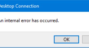 رفع خطای An internal error has occurred