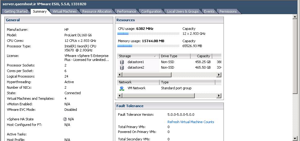 vmware panel سرور دانلود